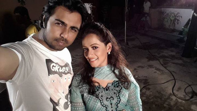 Anny Khan and Apurbo (Selfie)