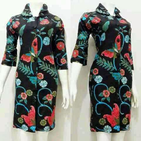 Model Terbaru Baju Mini Dress Batik Untuk Pesta