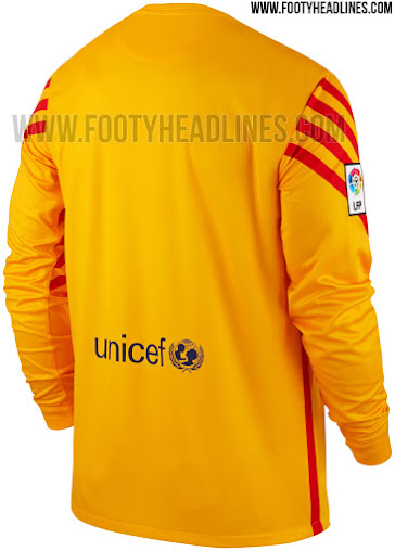 6694b070383 Barcelona 15-16 Goalkeeper Kits Unveiled - Footy Headlines