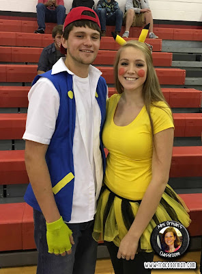 Halloween Pokemon couple costume: Ash and Pikachu