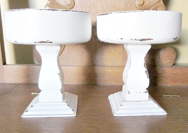 How to Make Thrift Store Pedestal Bowls