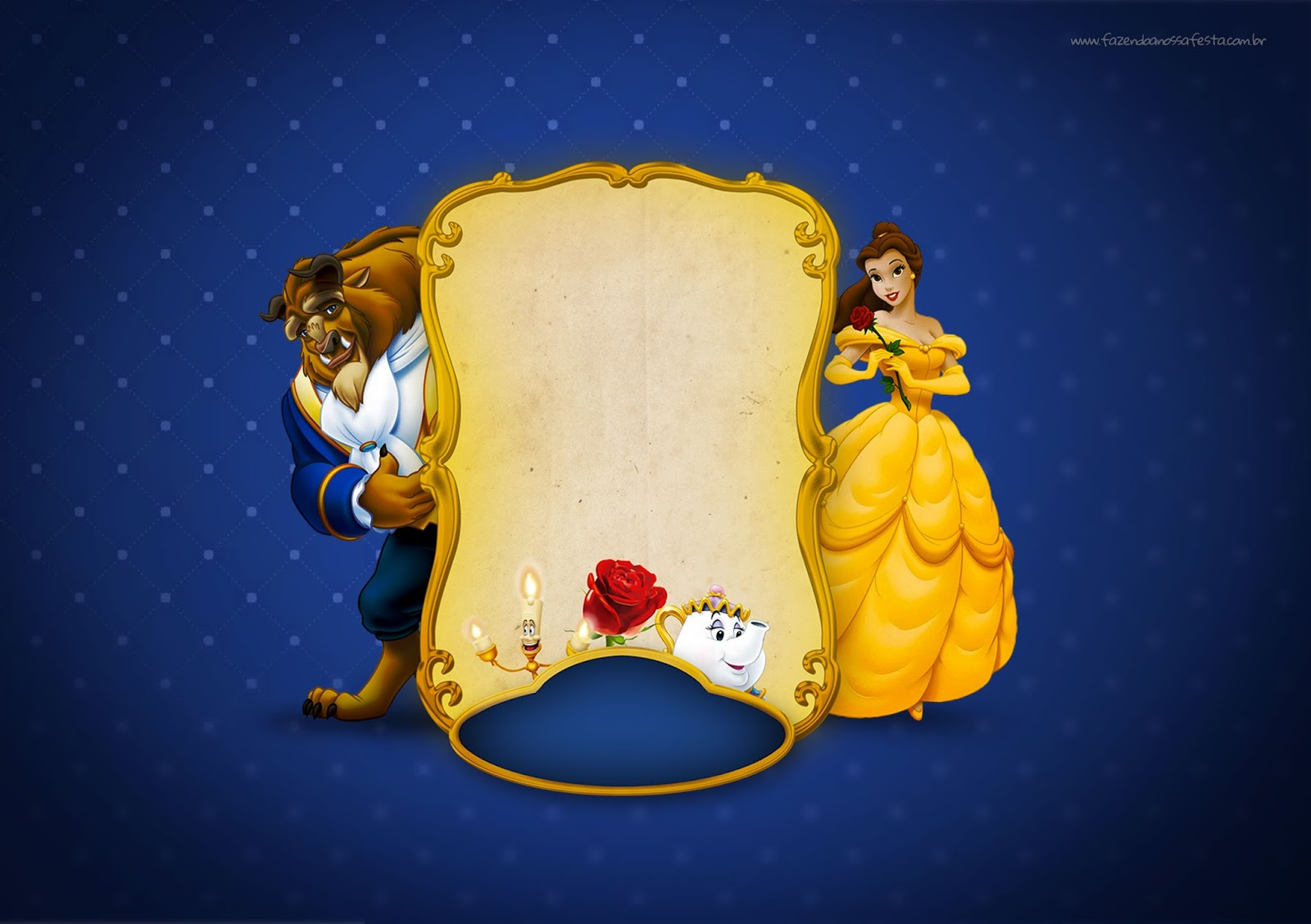 photograph about Free Printable Beauty and the Beast Birthday Invitations known as Natural beauty and the Beast Occasion: No cost Printable Invites. - Oh