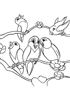 Cute Canary Bird Coloring Pages