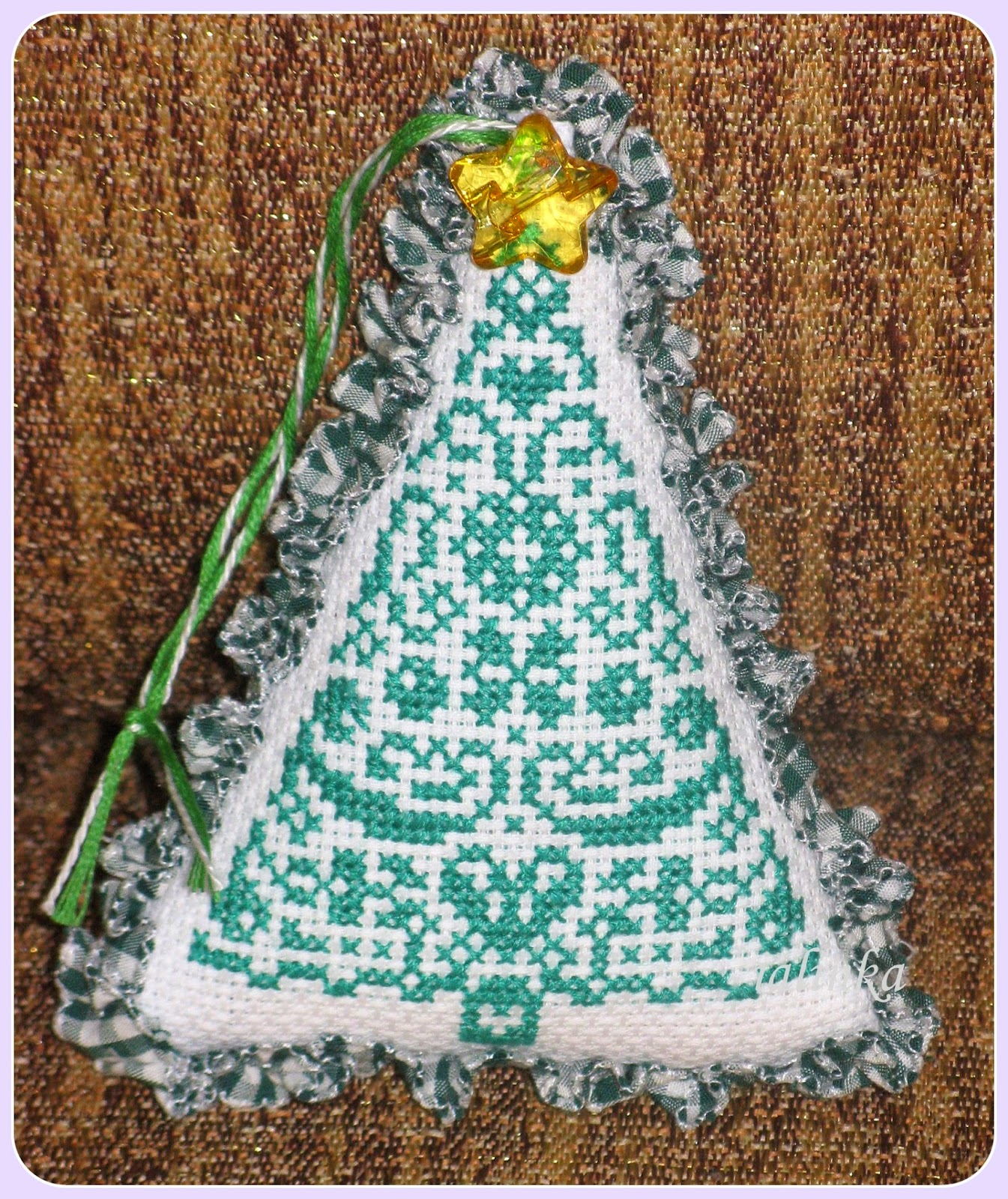 crossstitch  christmasstree