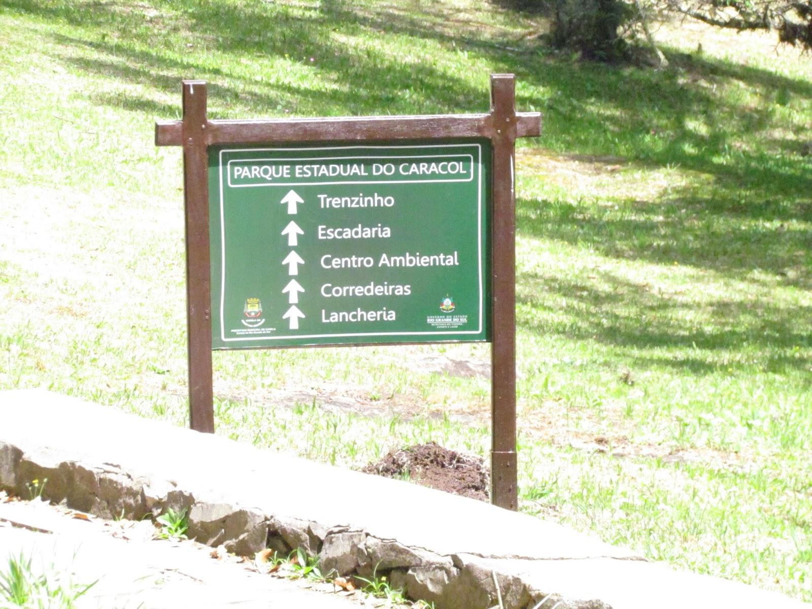 trilhas no Parque Caracol