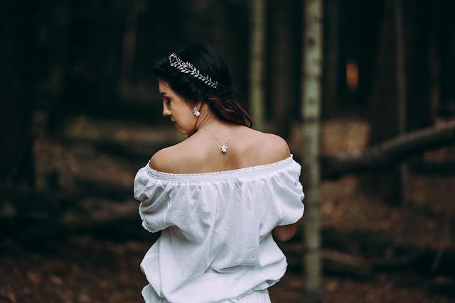 Opaska ślubna i biżuteria boho