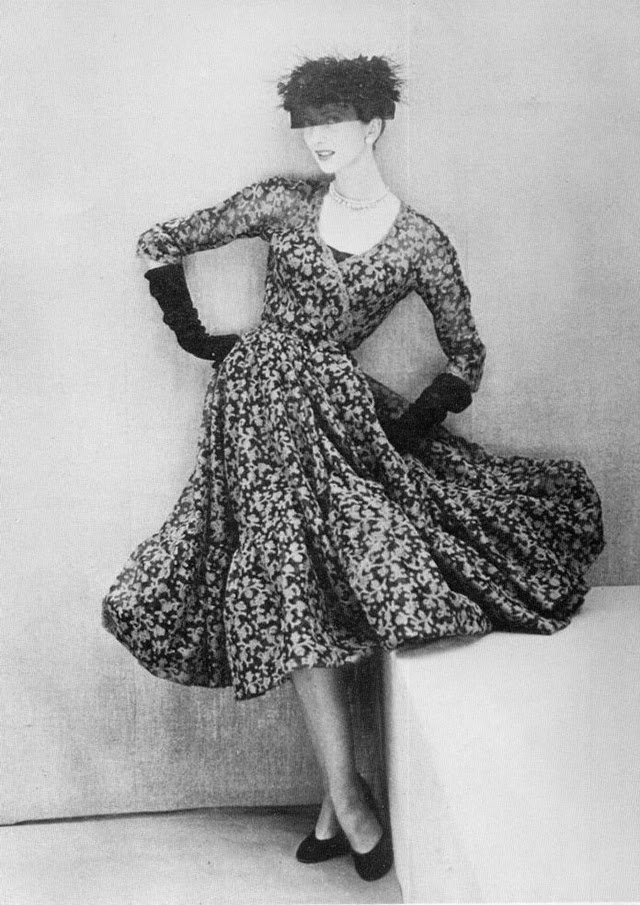 mysterious fashion from between 1940s and 1950s by