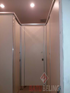 Cubicle Toilet 3 Unit  Phenolic Resin di Hotel Darmo Surabaya