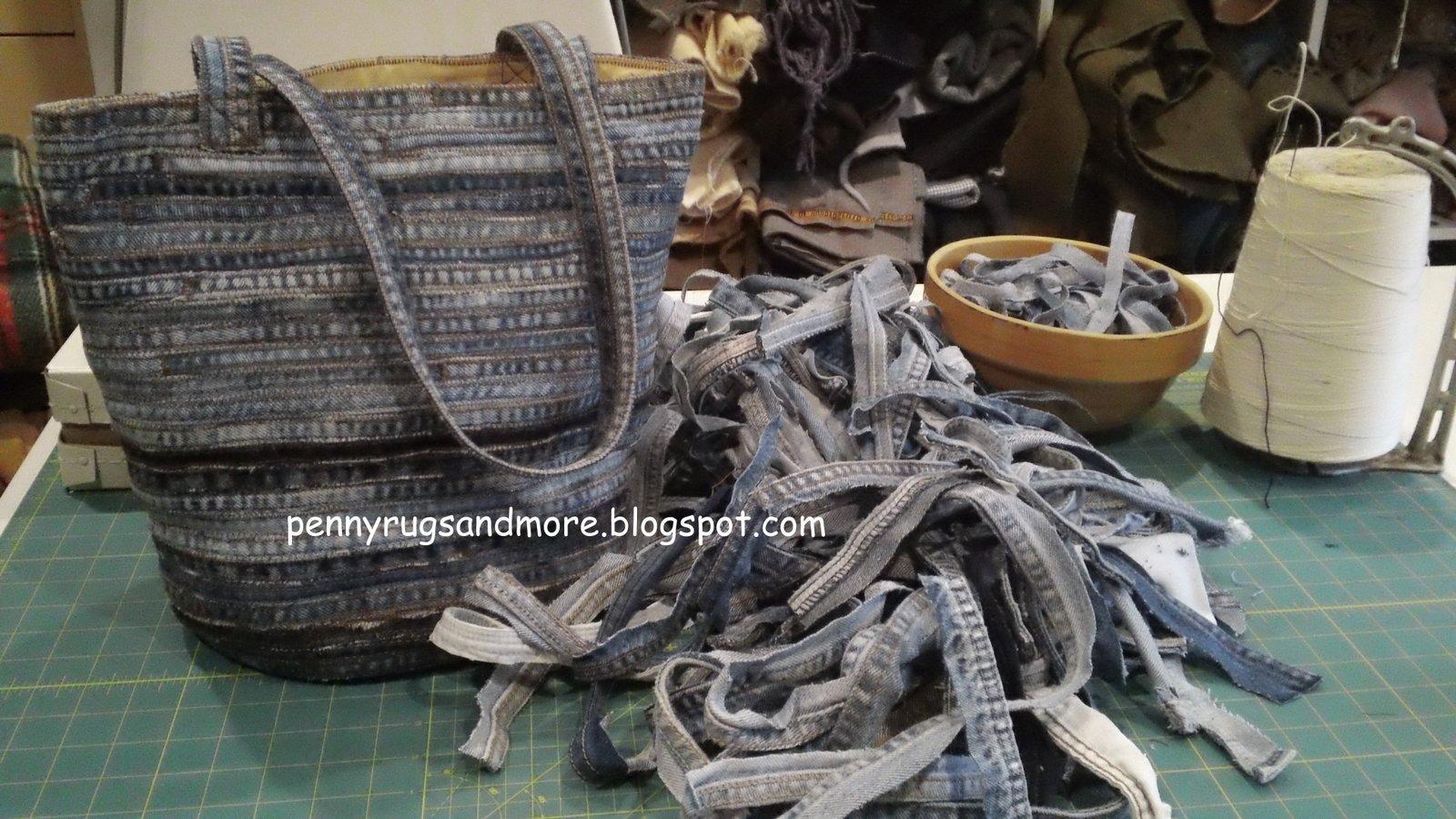 Penny Rugs and More Flat Felled Seam Denim Bag Tutorial
