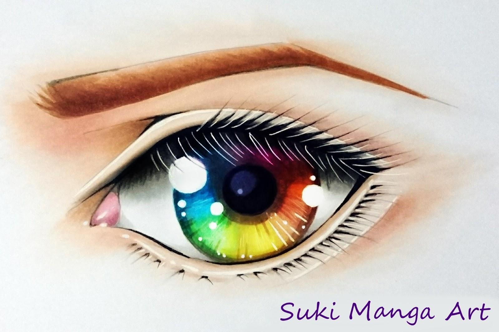 Copic Marker Europe: Tutorial: Rainbow eye by Suki Manga Art