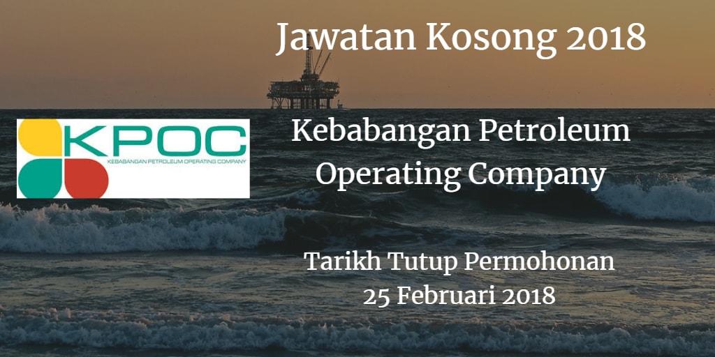 Jawatan Kosong Kebabangan Petroleum Operating Company 25 Februari 2018