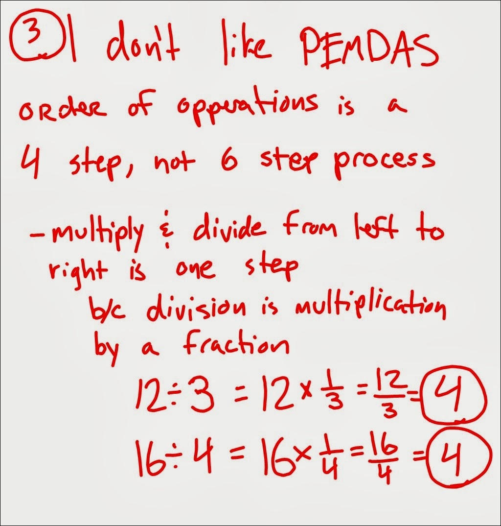 Homework Order Of Operations