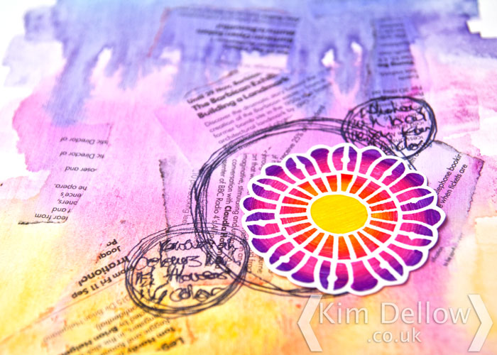 Kim Dellow's Prima Watercolor and fineliner art journal tutorial
