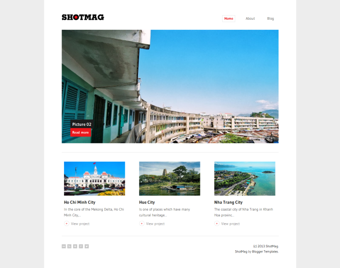 ShotMag Photoblog Minimalist Blogger Template