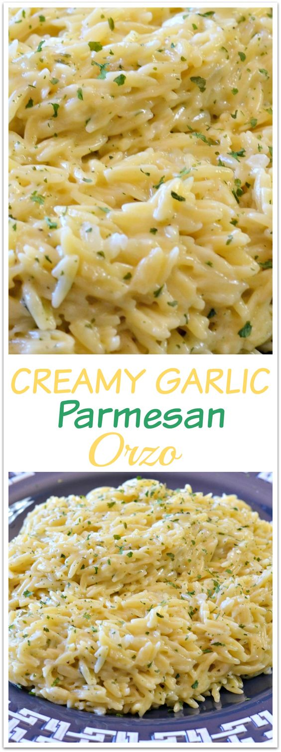 Creamy Garlic Parmesan Orzo