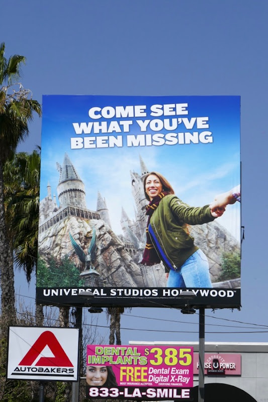 see what been missing Universal Studios billboard