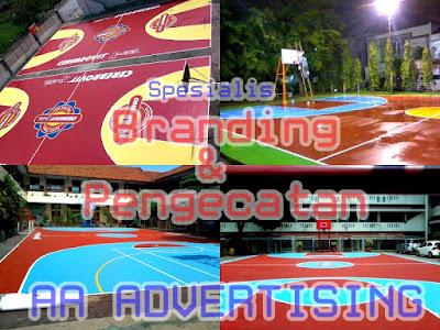 Mempercantik Lapangan Basket, Futsal, dengan Branding