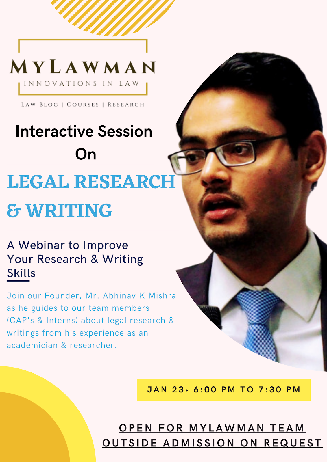 Interactive Session on Legal Research & Writing