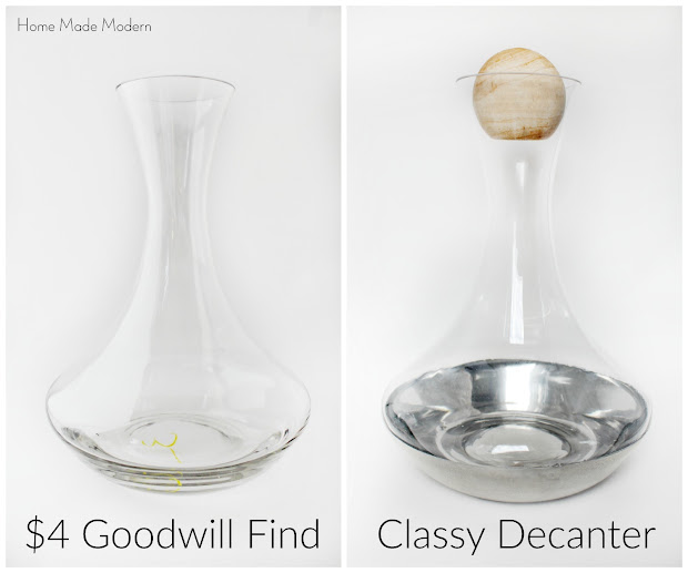 wine decanter before and after