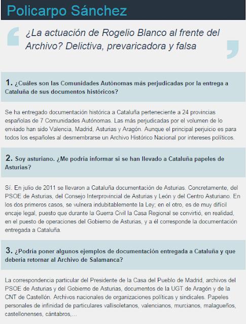 Entrevista de Policarpo Sánchez en el Mundo