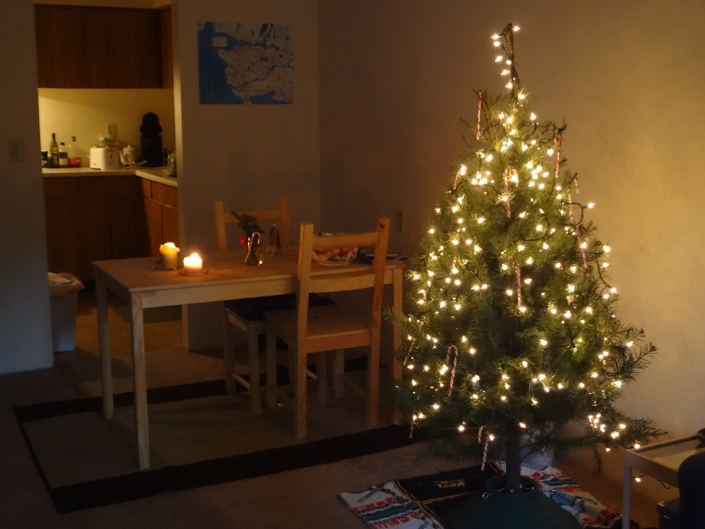 small apartment christmas decorating ideas office door