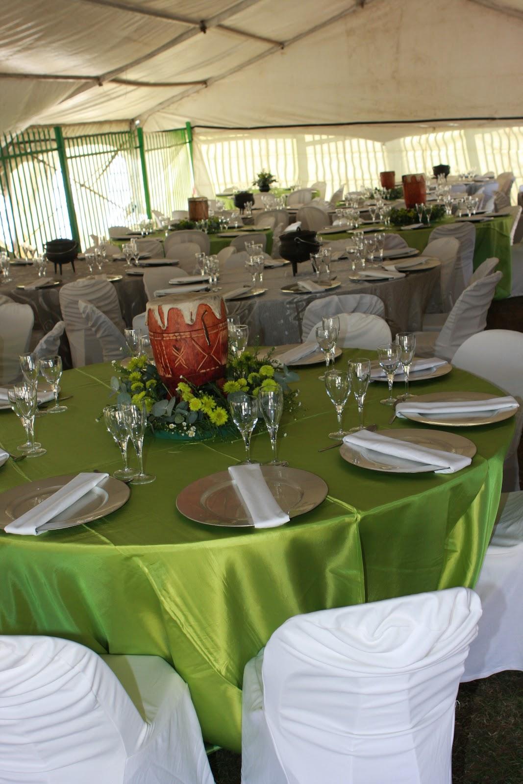 Zulu Traditional Wedding Table Decorations
