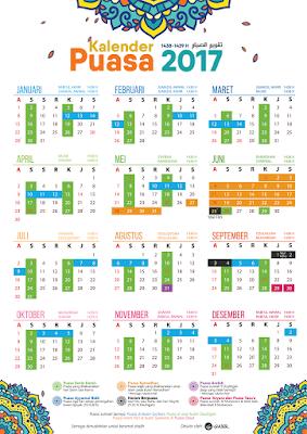kalender jadwal puasa ramadhan tahun 2017