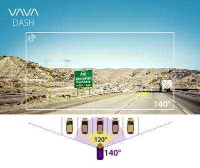 Camera hành trình ô tô VAVA ống kính góc rộng