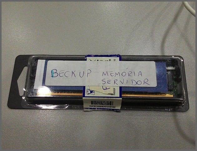 beckup memoria servidor