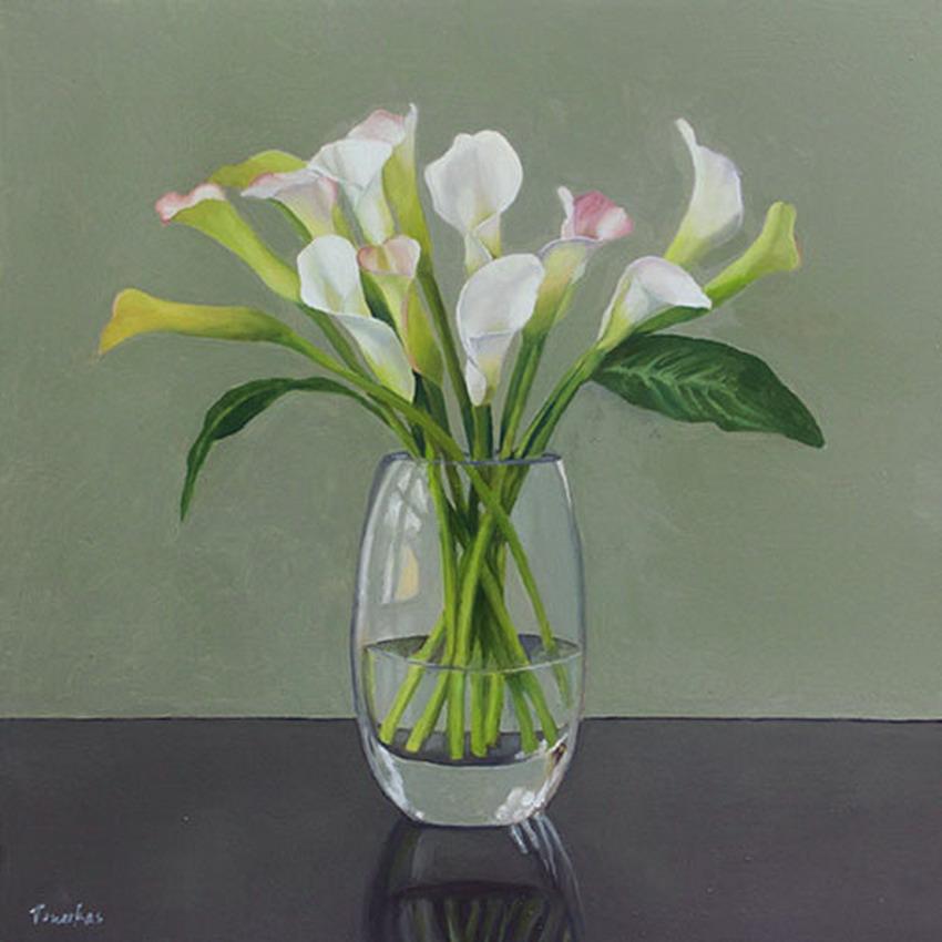 Cuadros modernos arreglos florales cartuchos en floreros de vidrio - Fabrica de floreros de vidrio ...