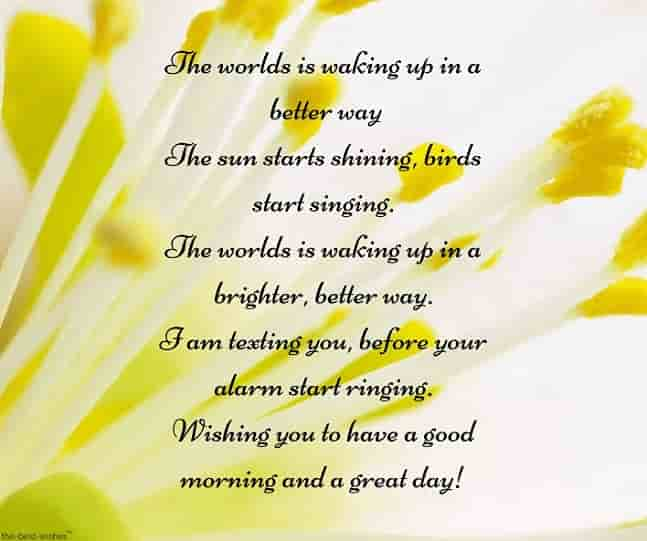 good morning poem sms