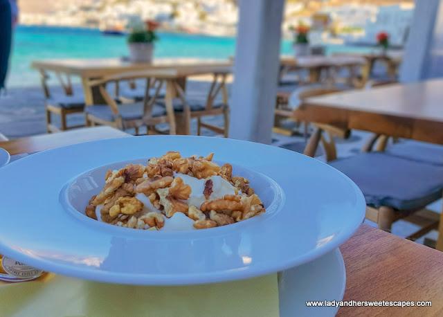 Greek breakfast in Mykonos