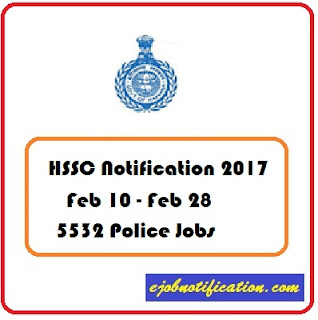 5532 HSSC Police Constable Recruitment Notification 2017 Apply Online www.hssc.gov.in