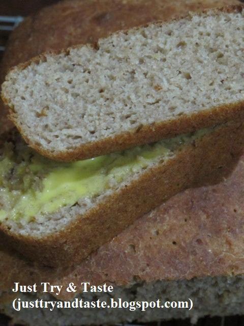 Resep Roti Gandum Tanpa Ulenan (100% tepung gandum utuh) JTT