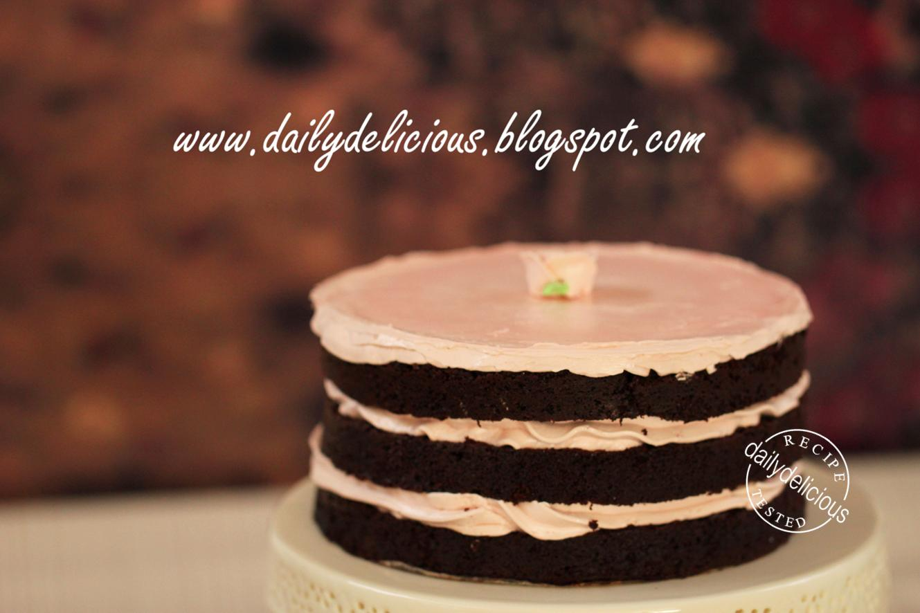Dailydelicious Double Chocolate Cake With Raspberry