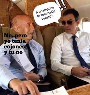 Francisco Franco, Pedro Sánchez,avión