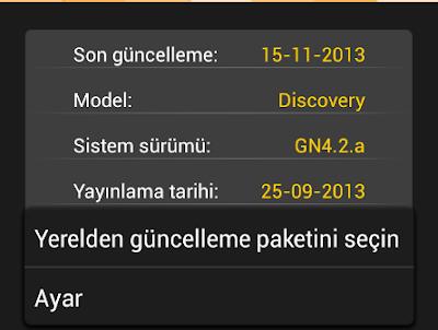 Tavsiye: General Mobile Discovery Ayarları