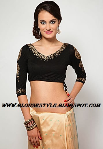 black colour  printed blouse