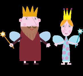 Rey y reina cardo padres de holly para imprimir