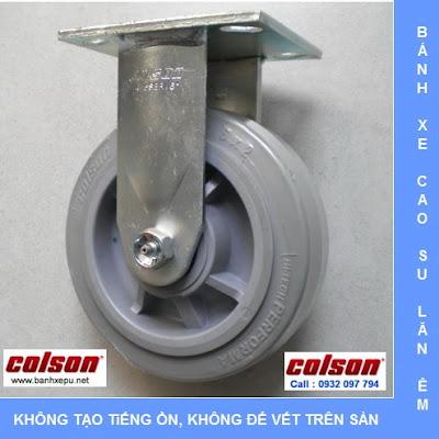 Bánh xe đẩy cao su đặc Colson phi 150 chịu lực 270kg | 4-6108-459 www.banhxedayhang.net