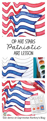 This patriotic art project is a great art lesson for 4th or July, President's Day, Veteran's Day or Flag Day. I'll show you step-by-step how you can make a Star with Waves that can also be used for a writing lesson.