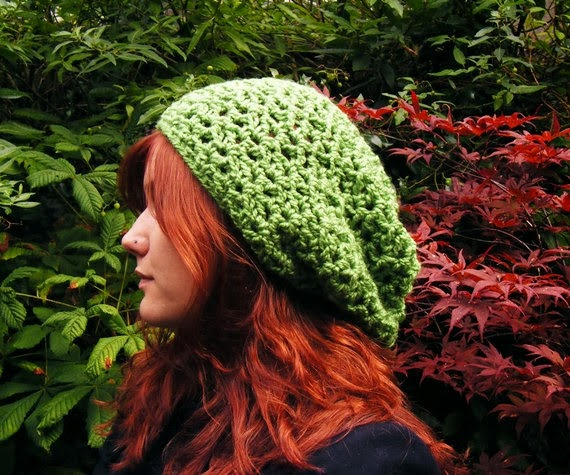 Green Hat from Corcra on Etsy