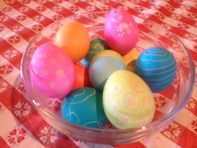 Easter Eggs Made into Egg Salad