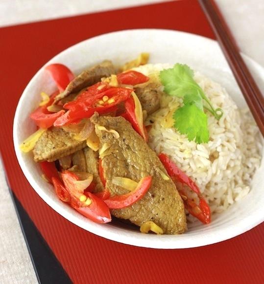 Vietnamese Beef Stir-Fry with Lemongrass recipe by SeasonWithSpice.com