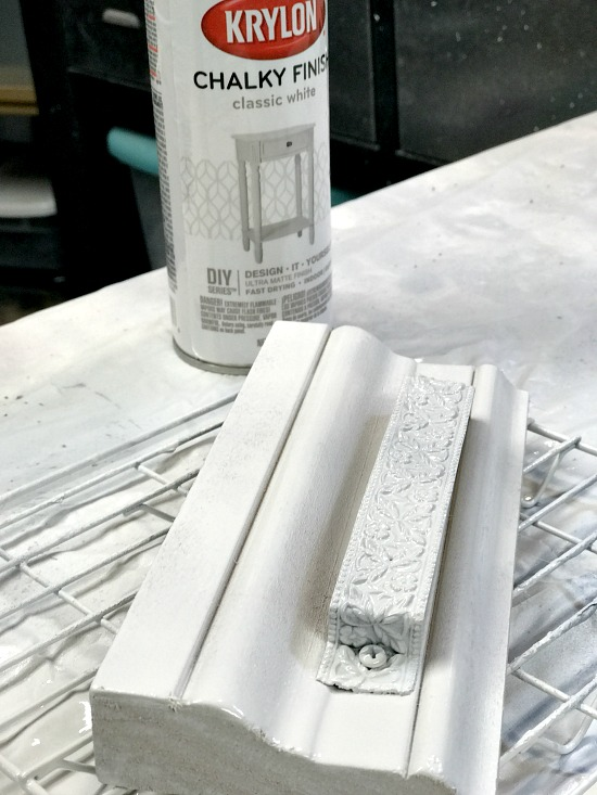 Spray painted eyeglass organizer storage