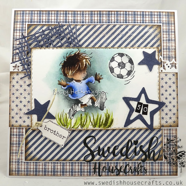 A Card For A Man using Denim & Friends | By Becky