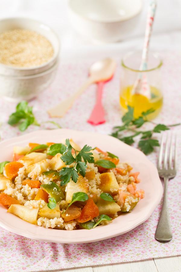 Ensalada de quinoa receta dieta