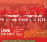 UWE Millennium Scholarship for International Students in UK 2018, Master Degree, Description of Scholarship, Eligibility Criteria, Procedure, Application Deadline