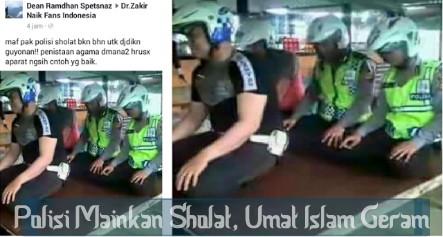 Polisi Mempermainkan Sholat, Netizen Umat Islam Geram