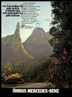 propaganda ônibus Mercedes-Benz - 1973, Mercedes-Benz do Brasil anos 70, Mercedes-benz década de 70, caminhão mercedes, Oswaldo Hernandez,